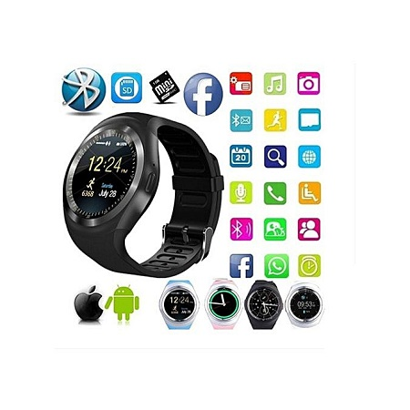 Y1 Smart Watch IOS Android Facebook Touchscreen Smartwatch
