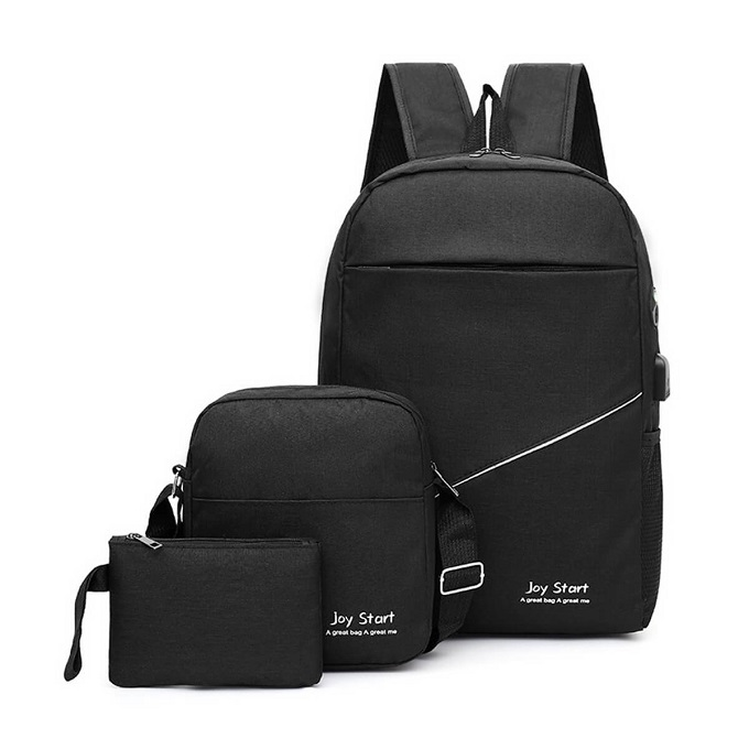 Quality Canvas 3In1 Laptop Backpacks With USB Charging, Earphone Ports ZBP-1003