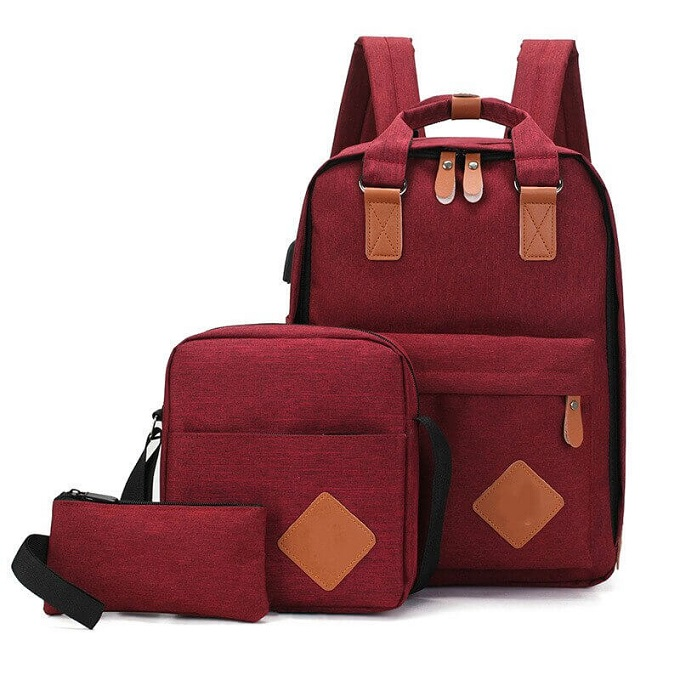 3 in1 16.5 Inch Backpacks with USB headphone port Handbags ZBP-1004