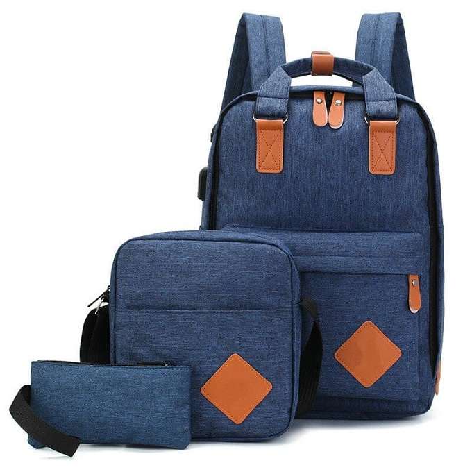 3 in 1 16.5 Inch Backpacks With USB Headphone Port Handbags ZBP-1004