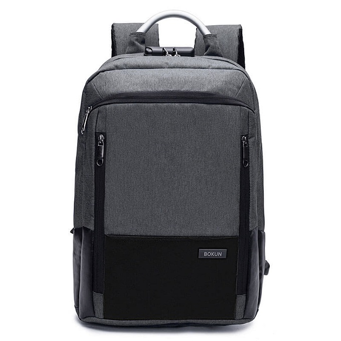 Keep It Locked Anti-Theft Canvas Laptop Backpack With USB Port And Password Zipper Lock (Black) ZBP-1027