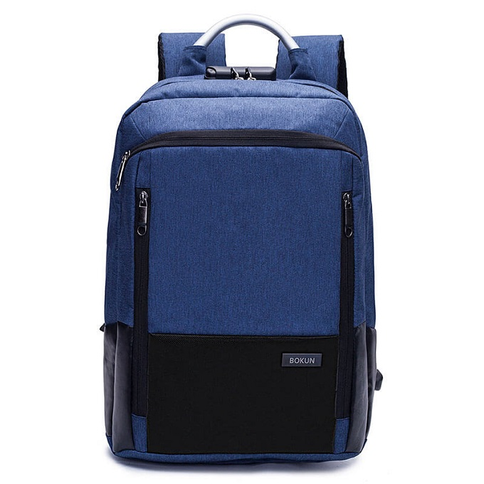 Keep It Locked Anti-theft Canvas Laptop Backpack With USB Port and Password Zipper Lock ZBP-1027