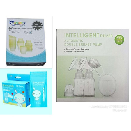 Breastfeeding Pack 1 - Electric Pump, Storage Cups & Bags