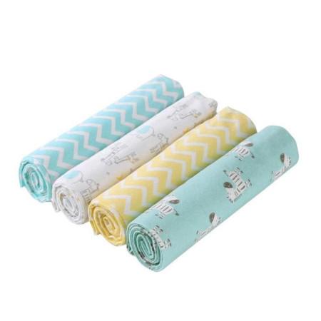 Fashion 4pcs Cotton Baby Shawl Green Blue Newborn Baby