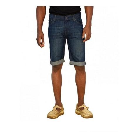 Zecchino Blue Denim Turn Up Slim Shorts