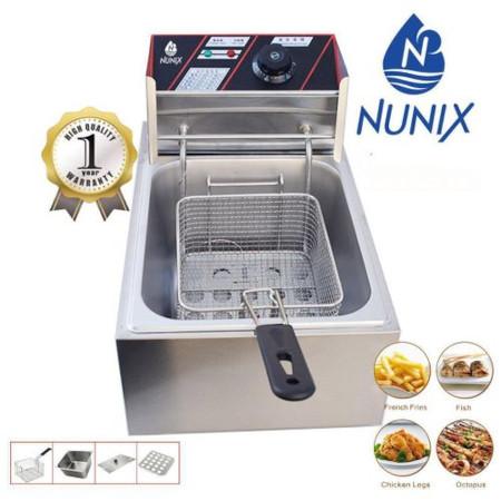 Nunix 6L Commercial Single Stainless Steel Deep Fryer
