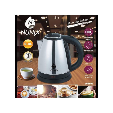 Nunix ORIGINAL CORDLESS STAINLESS STEEL KETTLE JUG
