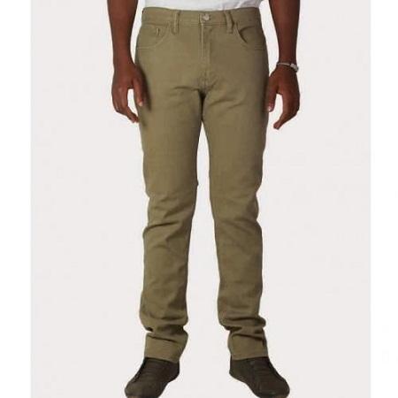 Zecchino Beige Mens Straight Fit Pants