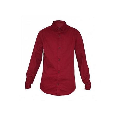 Zecchino Maroon Men's Long Sleeved Slim Fit Shirt