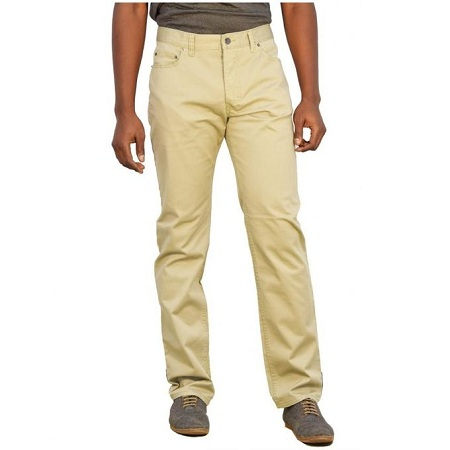 Zecchino Beige Straight Fit Twill Pants