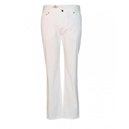 Zecchino White Straight Fit Men's Pants