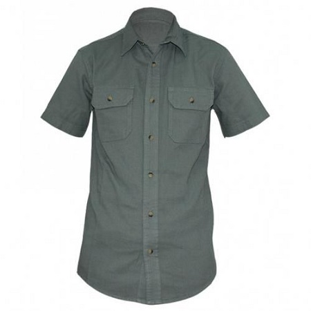 Zecchino Green Mens Short Sleeved Shirts