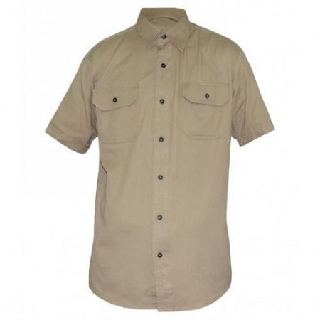 Zecchino Beige Mens Short Sleeved Shirts