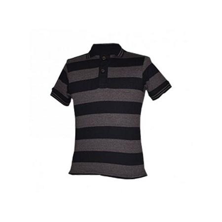 Zecchino Brown Stripped Men's Polo Shirts