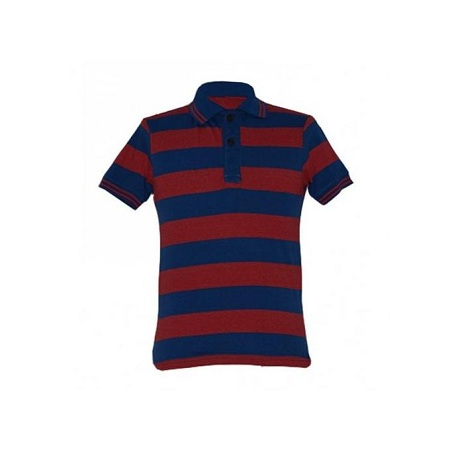 Zecchino Blue and Red Striped Men's Polo Shirts