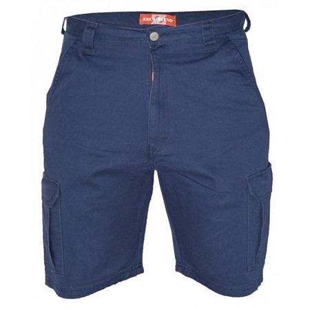 Zecchino Navy Mens Cargo Pockets Shorts