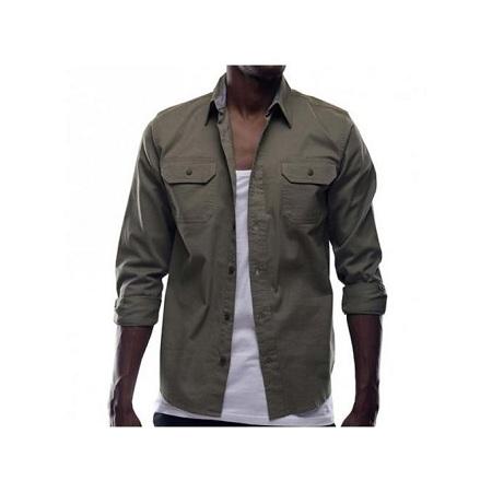 Zecchino Olive Green Mens Shirts