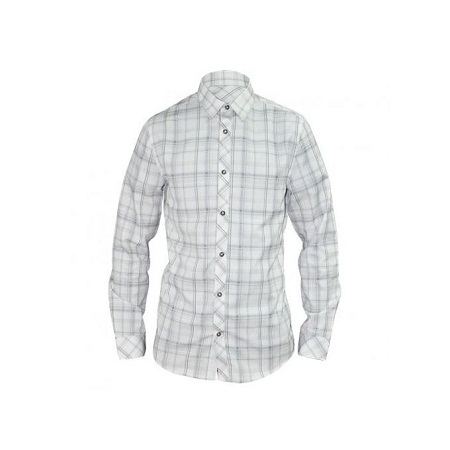 Zecchino White Checked Long Sleeved Men's Casual Shirts