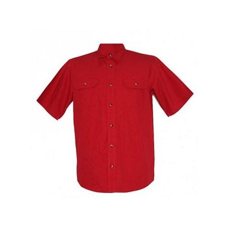 Zecchino Red Short Sleeved Mens Shirts