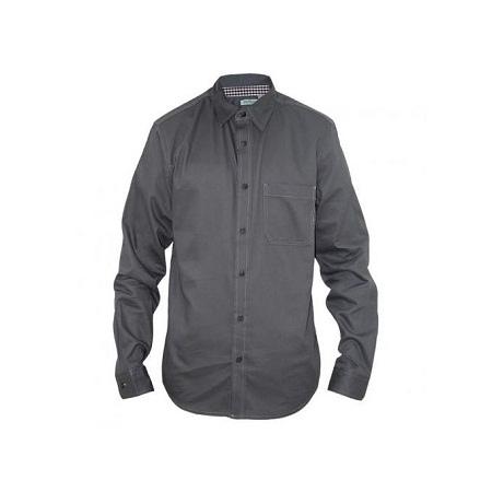 Zecchino Grey Long Sleeved Men's Basic Shirts
