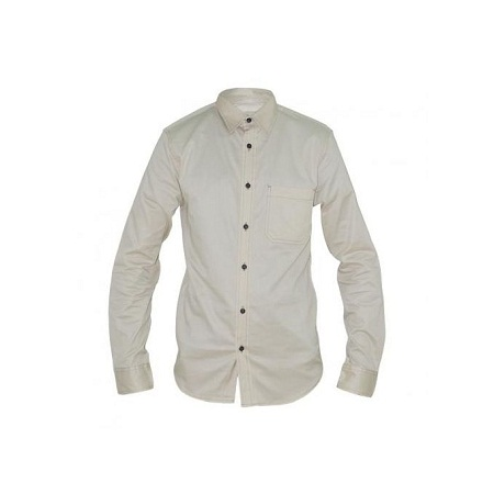 Zecchino Cream Long Sleeved Men's Shirts