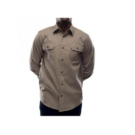 Zecchino Beige Long Sleeved Men's Shirts