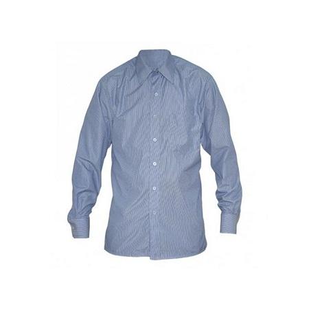 Zecchino Blue Stripped Long Sleeved Mens Shirts