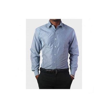 Zecchino Blue Striped Long Sleeved Men's Shirts