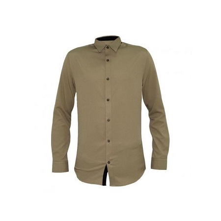 Zecchino Beige Men's Long Sleeved Shirts