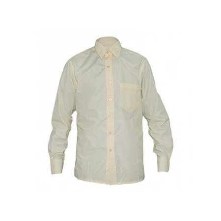 Zecchino Yellow Stripped Mens Long Sleeved Shirts
