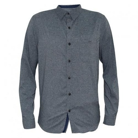 Zecchino Grey Men's Long Sleeved Casual Shirts