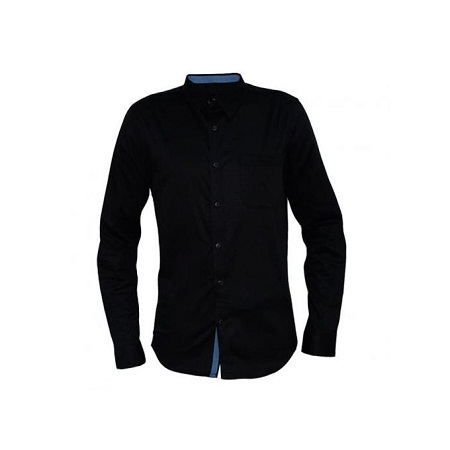 Black Men's long sleeved buttoned down Shirts