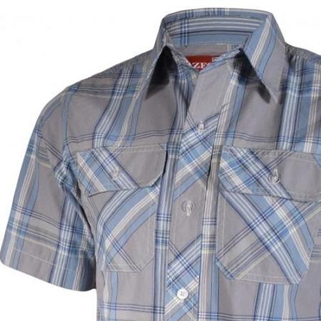 Zecchino Grey Checked Men's Shirt