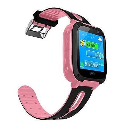 Children's Intelligent Telephone Positioning Smartwatch Multi-functional GPS-pink