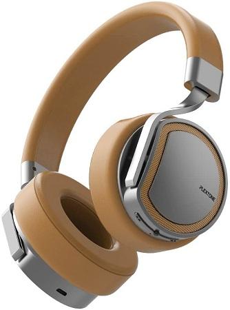 Plextone BT270 smart compatible wireless + wired switching stereo headphone- Golden