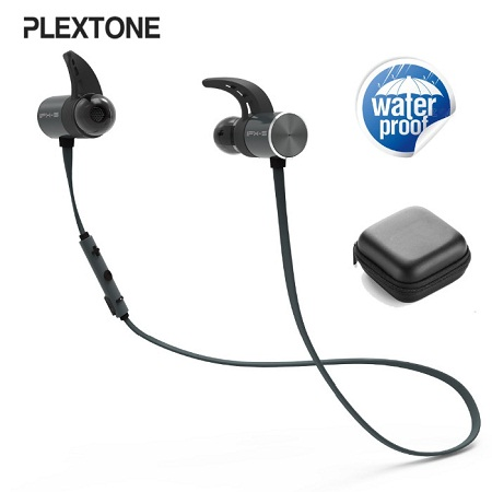 Plextone BX343 Wireless Headphone IPX5 Waterproof Dual Battery 8 Hours music time Bluetooth Sport Earphone for Running