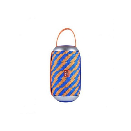 Portable Bluetooth Speaker with Loud Stereo (Orange & Blue)