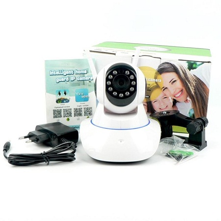 Robot nanny security home camera with live stream and motion detector