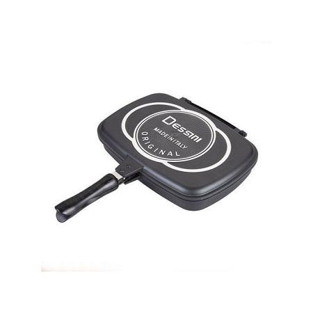 Dessini Two-Sided Double Grill Non-stick Pressure Pan 36cm - Black