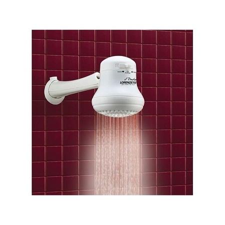 Lorenzetti Instant Hot Water Shower Heater, Shower Head - White