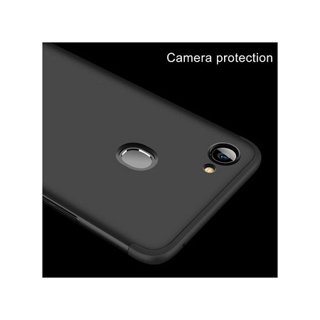 OPPO F7 Full Coverage Protective Case Back Cover - Black