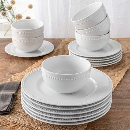 18pc White dinner set