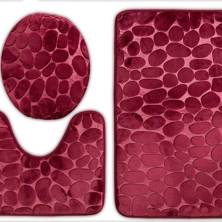 3pc set bathroom soft mat