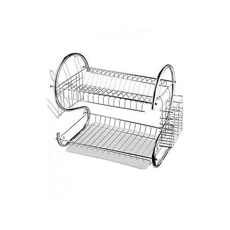 Dish Rack 2 Tier, Utensils Drying.