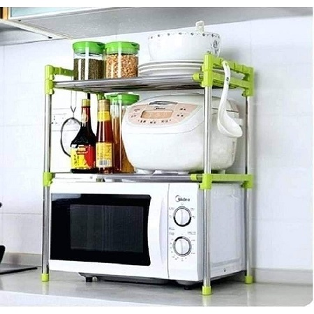 Microwave stand organizer