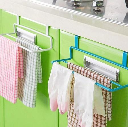 Plastic double towel hanger