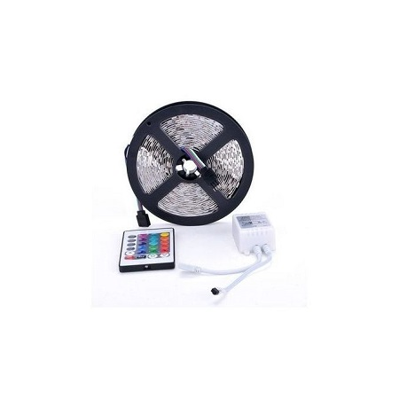 Led Strip Light 5050 Rgb 5M 300 Leds Flex Smd Strip & 24 Key Ir Remote Controller 12V Red Green Blue