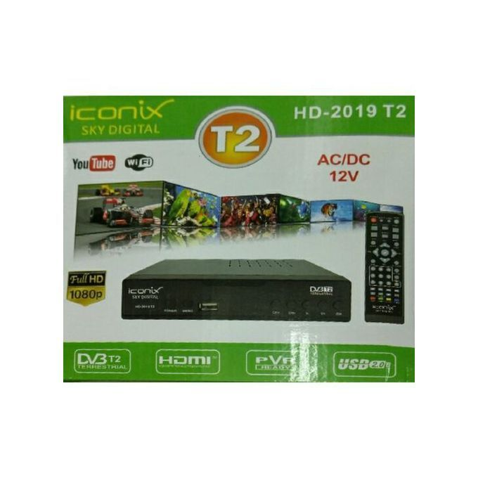 Iconix Free To Air Decoder HDMI Connects WIFI And Youtube