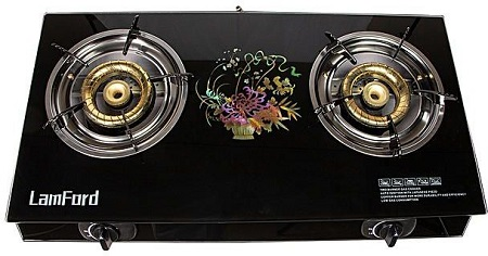 2 Burner LamFord House Hold Gas Stove GD-149 Steel Top Gas Cooker