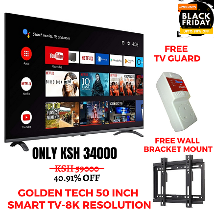 Golden Tech 50 Inch Smart TV-8K Resolution-AC